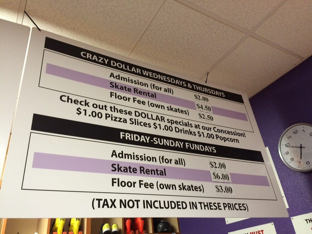 Prices To Be Able To Skate Yelp