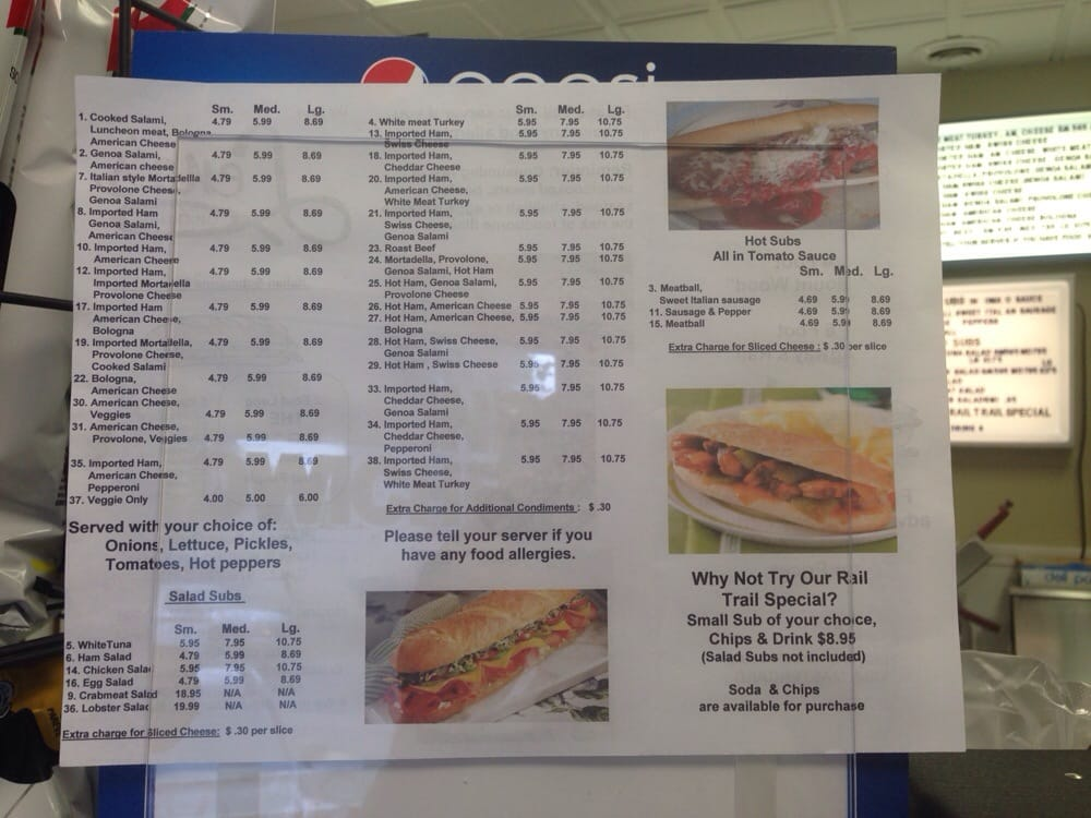 Food from Lena's Original Subs