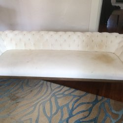 Superb Photo Of Extreme Clean   Bartlett, TN, United States. White Velvet Couch  Before