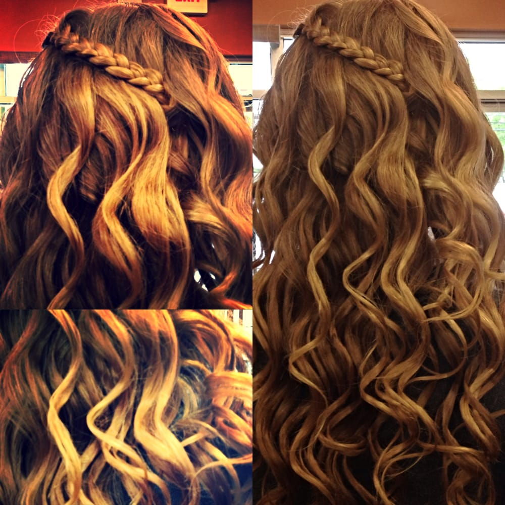 Loose Curls & Braids for Prom - Yelp
