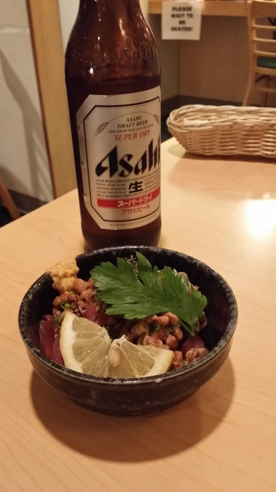 Maguro natto tuna with fermented soy bean you are a true for Asaka japanese cuisine