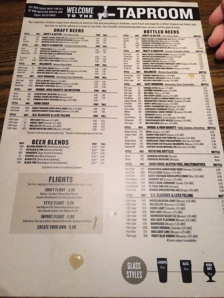 Drink Menu Yelp