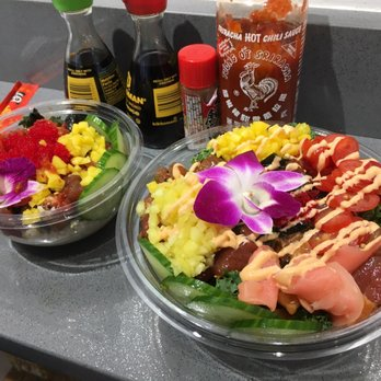 Poke bowl 145 photos 121 reviews seafood restaurants for Big fish little fish poke