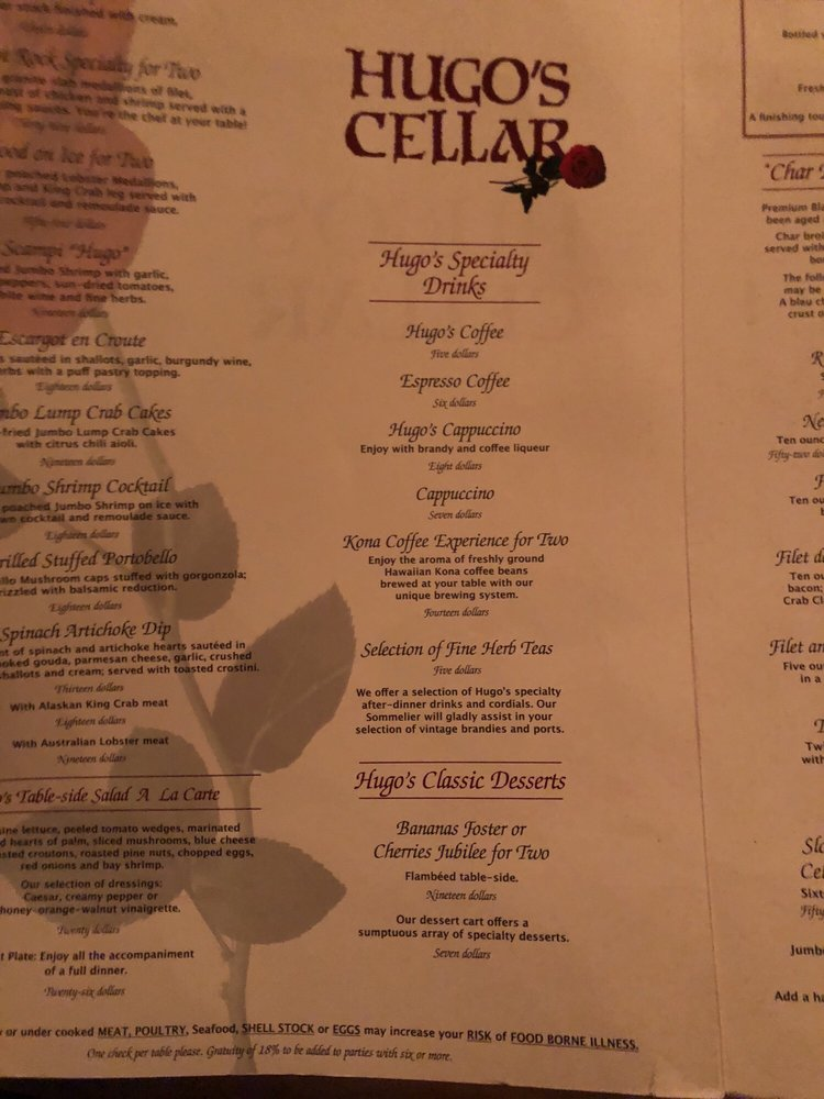 : hugo cellars menu  - Aeropaca.Org