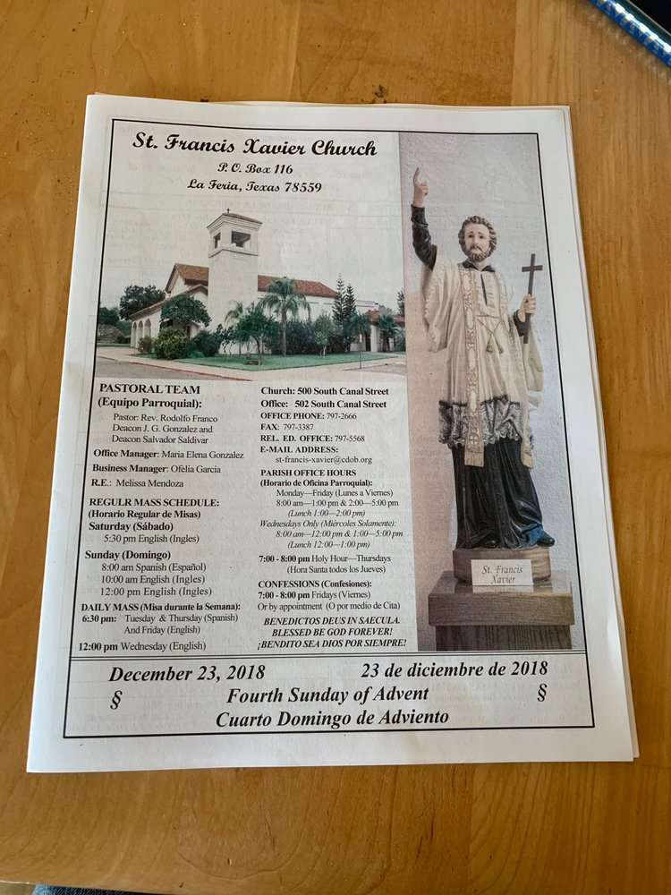 St Francis Xavier Church: 213 W Magnolia, La Feria, TX