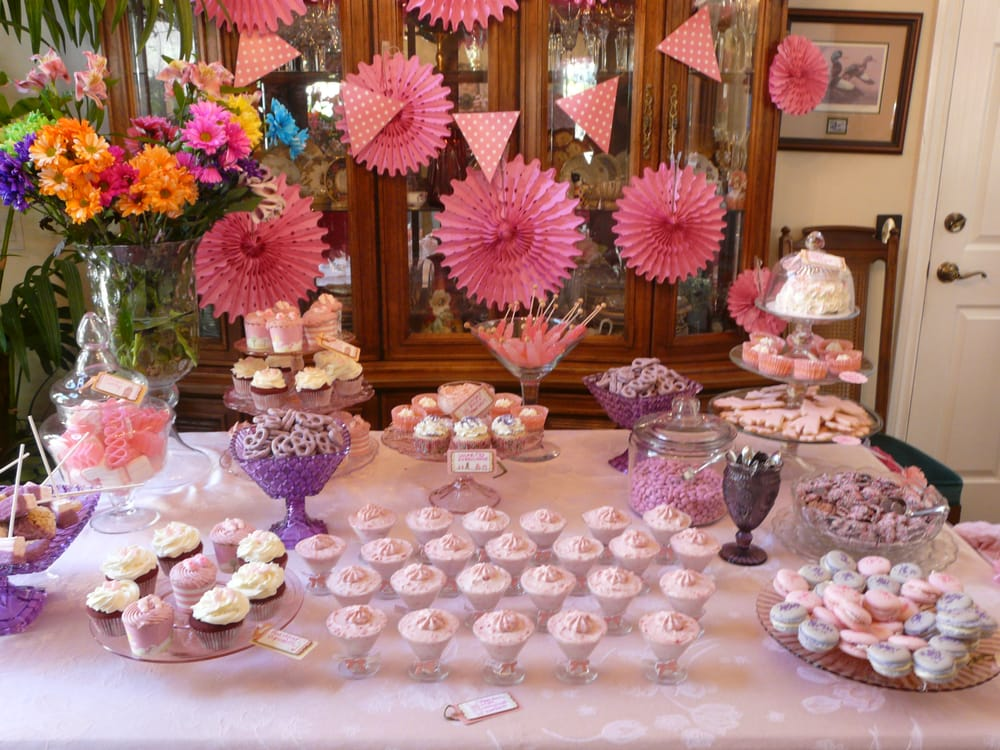 states baby shower dessert and candy table by the cupcake garden