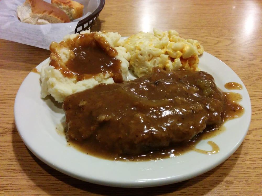 Country Fried Steak Mac N Cheese Mashed Potatoes And