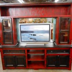 Photo Of Westside Furniture   Glendale, AZ, United States. 2 Tone  Entertainment Center