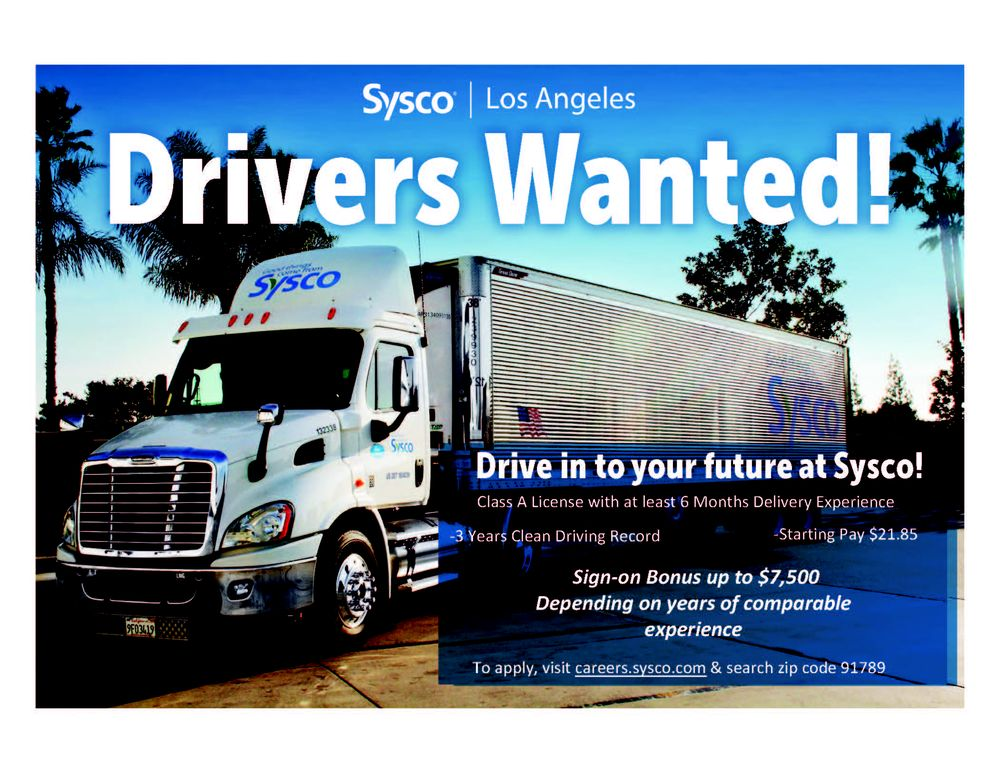 Sysco Food Services - 20701 Currier Rd, Walnut, CA - 2019 All You