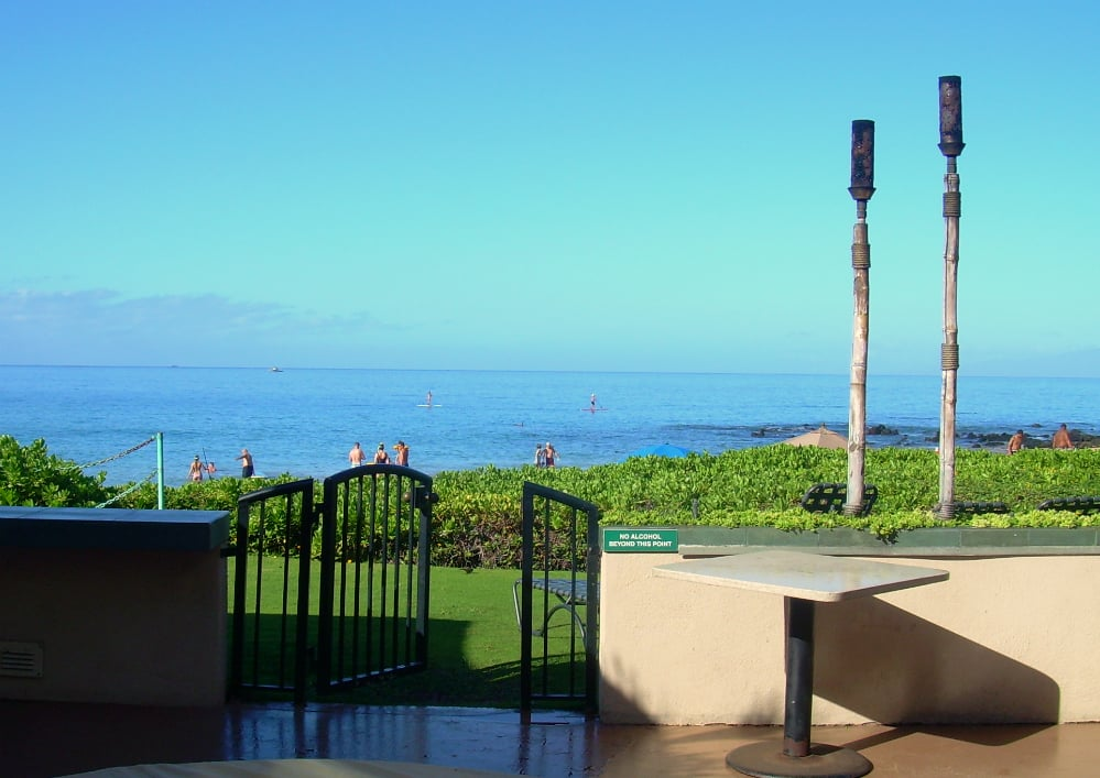 view as we stepped out the door of our room at maui. Black Bedroom Furniture Sets. Home Design Ideas