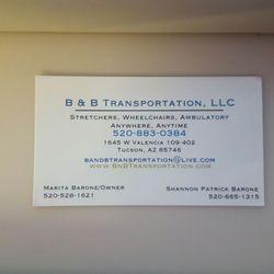 B b transportation medical transportation tucson az phone photo of b b transportation tucson az united states just the colourmoves