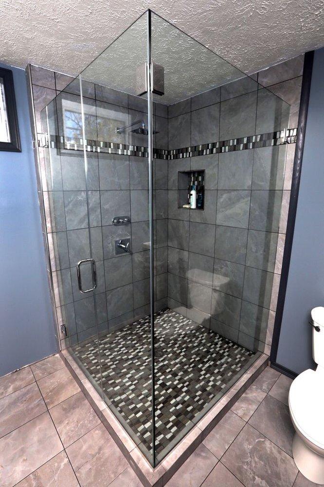 Stand alone frameless corner shower enclosure - Yelp
