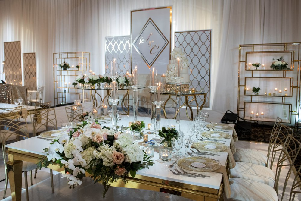 Head Table Arrangement by our In-House Decor Company S2 - Yelp