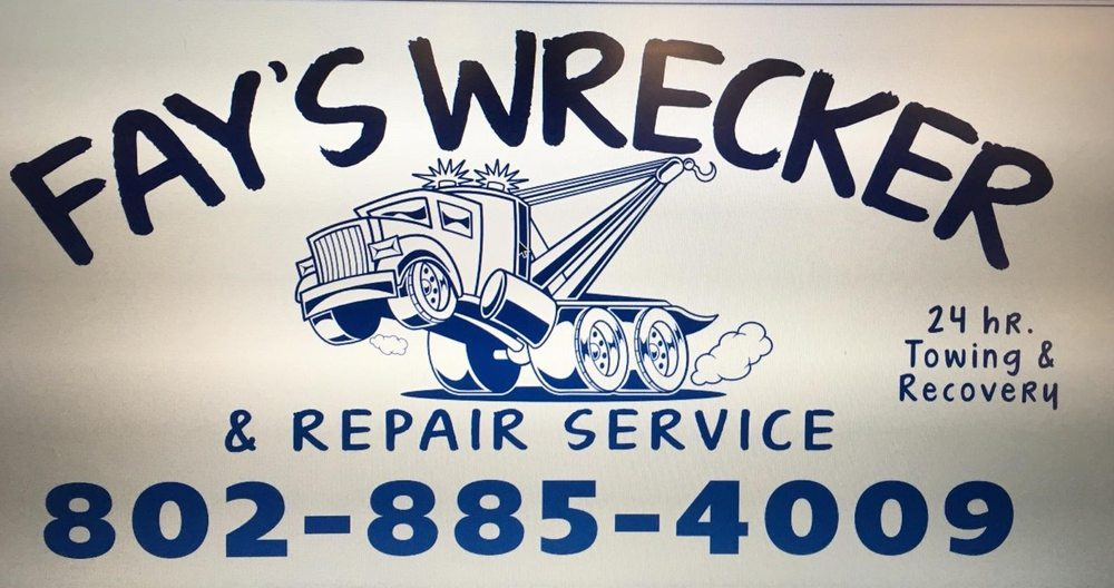 Fay's Wrecker and Repair Service: 12 Lacross Rd, Springfield, VT