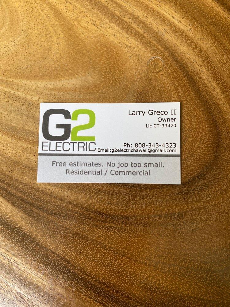 G2 Electric: Kaneohe, HI