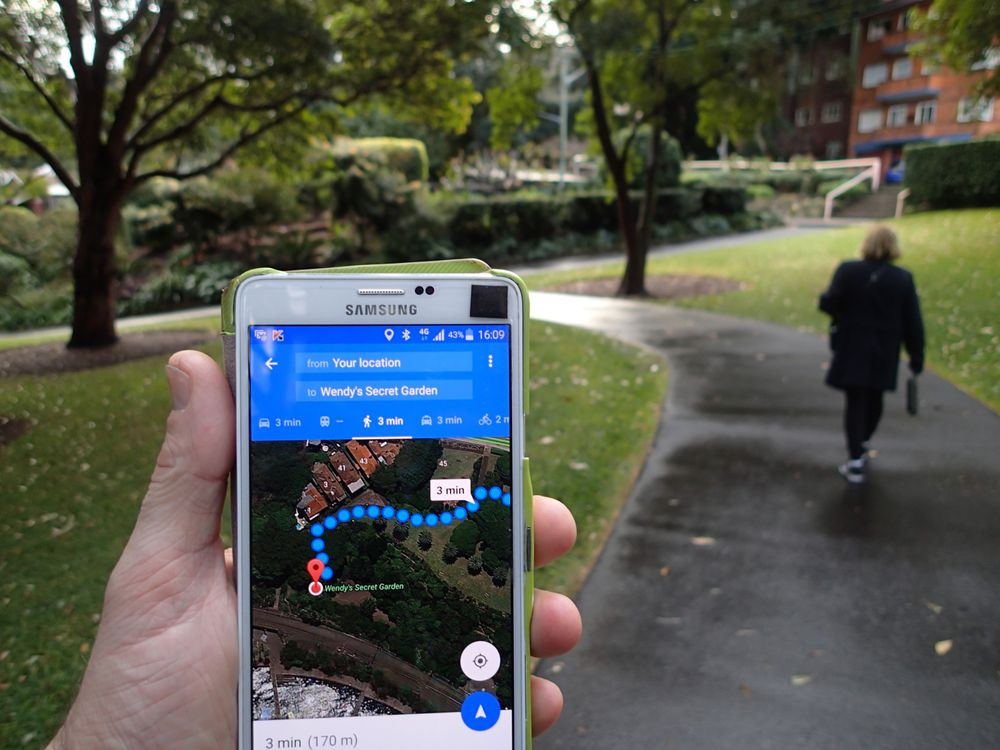 google maps on your smart phone will lead you right to it yelp
