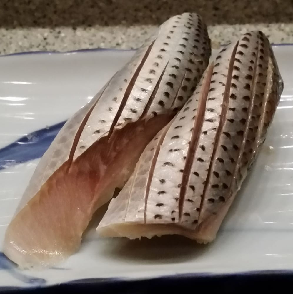 Omakase 5 Two Pieces Of Spotted Sardine Sashimi Some