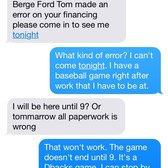 Photo of Berge Ford - Mesa AZ United States. Text message convo  sc 1 st  Yelp & Berge Ford - 27 Photos u0026 121 Reviews - Car Dealers - 460 E Auto ... markmcfarlin.com