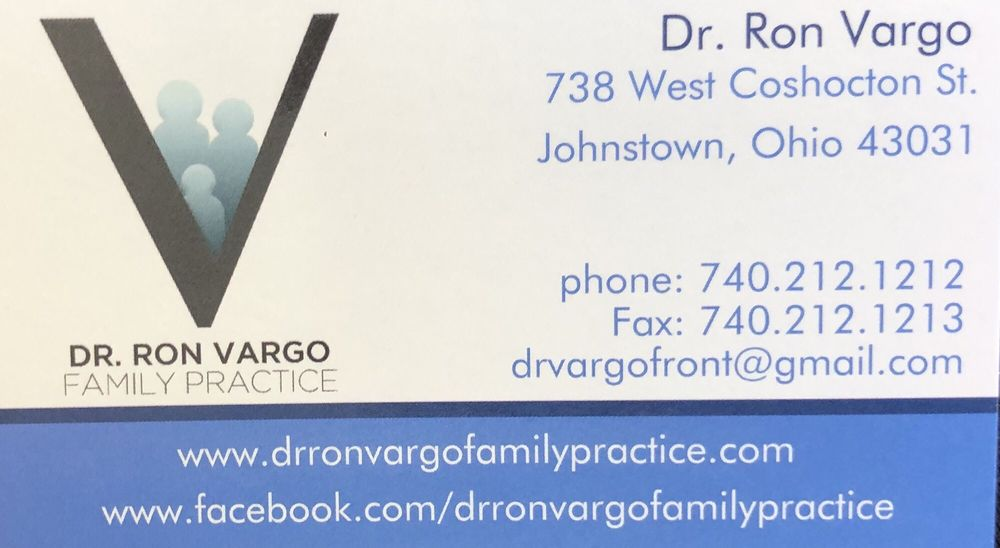 Vargo Ronald G DO: 738 W Coshocton St, Johnstown, OH