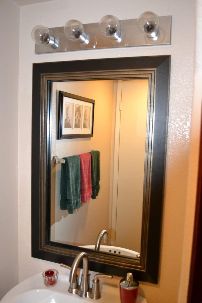 bathroom mirror frame mirror frame kit modern black