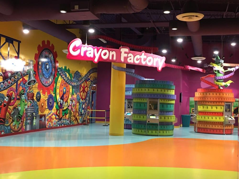 Crayola experience crayon factory section. Orlando Florida - Yelp