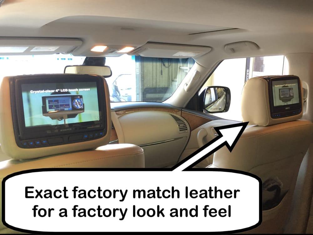 Custom Factory Match Dual Dvd Headrest Monitors In A 2013 Infiniti