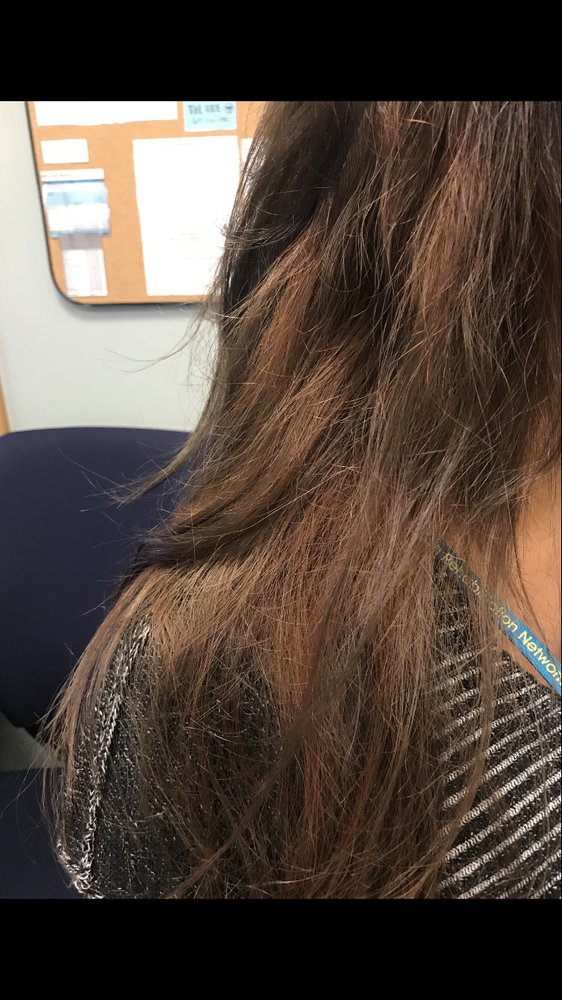 Dried Hair From Her Stripping It And All Different Shades Of Color