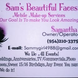 Sams beautiful faces 17 photos makeup artists fort for Business cards fort lauderdale