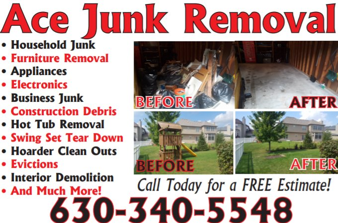 Ace Junk Removal: 25111 Ramm Dr, Naperville, IL