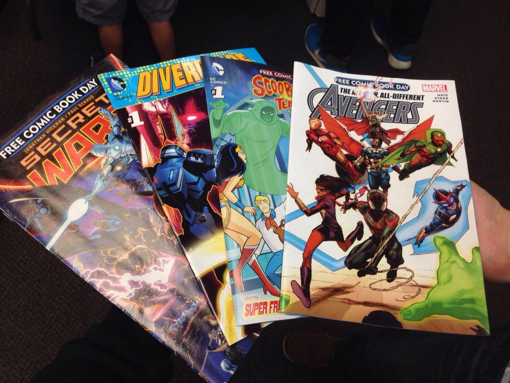 Free Comic Book Pickings At The End Of The Day Yelp