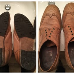 Photo of Mariny's Shoe Repair - Chicago, IL, United States. Leather  Wingtips Before