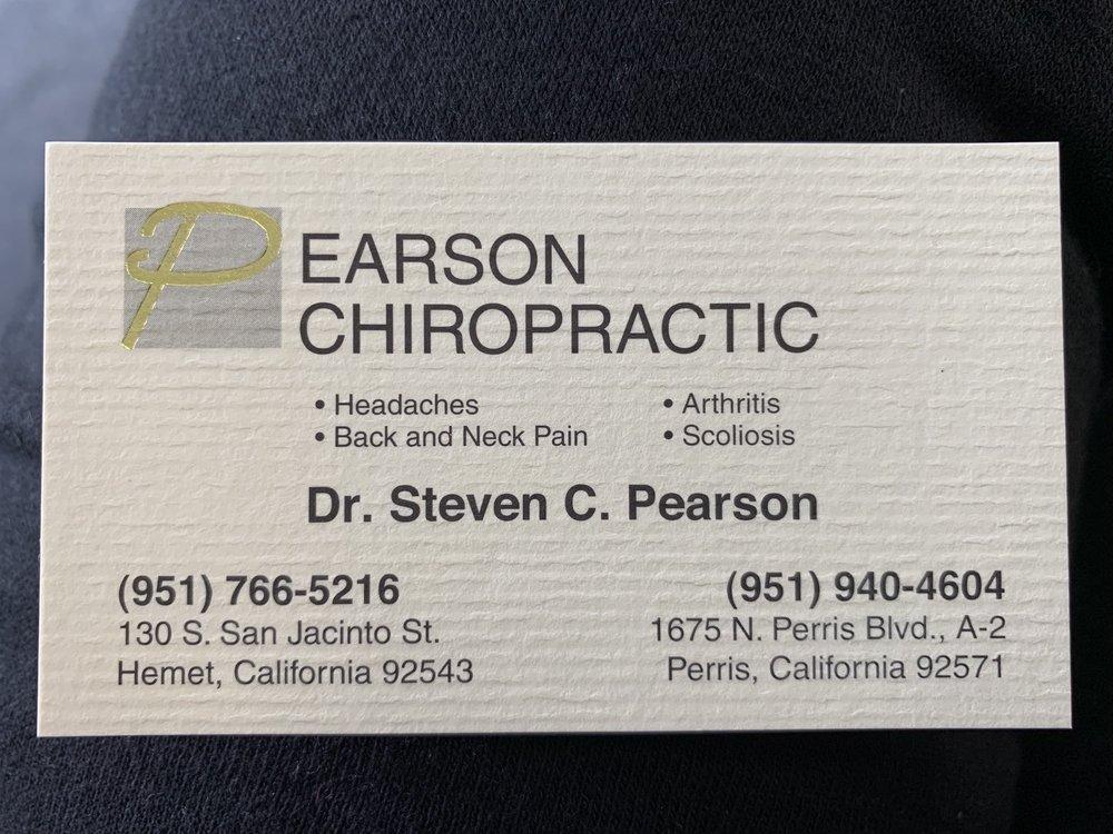Pearson Chiropractic: 1675 N Perris Blvd, Perris, CA