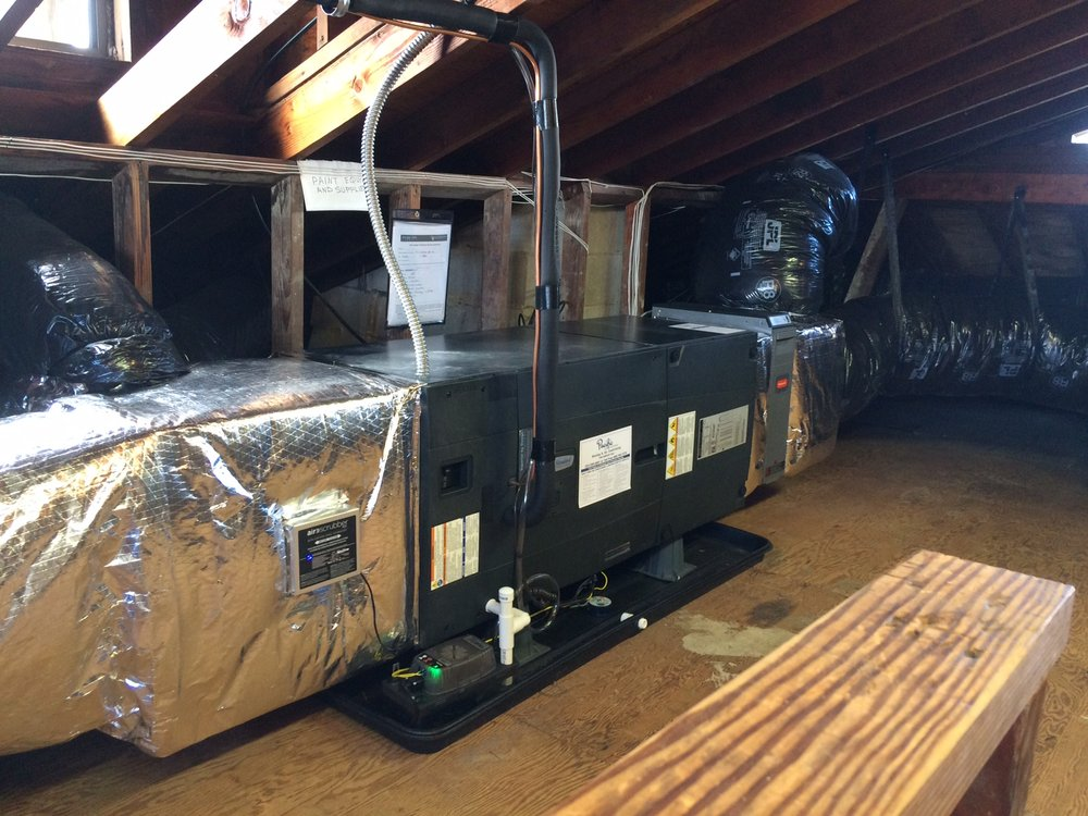 Custom Attic Air Handler And Duct Work Tons Of Space To