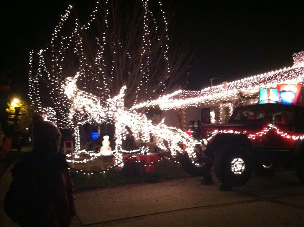 photo of christmas lights decorations on eucalyptus avenue san carlos ca united - Jeep Christmas Decorations