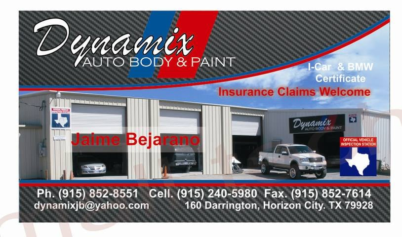 Dynamix Auto Body & Paint: 160 S Darrington Rd, El Paso, TX