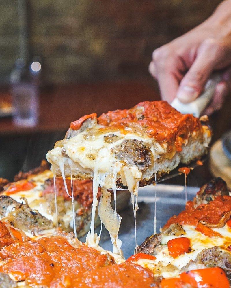 PizzaPapalis of Greektown: 553 Monroe St, Detroit, MI