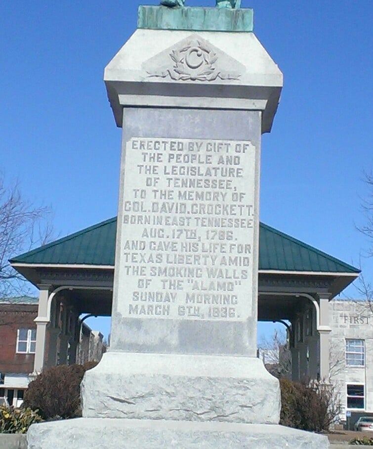 Statue of Davy Crockett: Town Sq, Lawrenceburg, TN