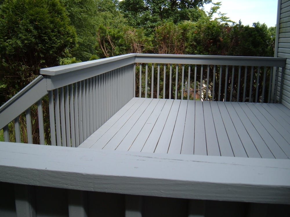 Finished The Deck With Benjamin Moore S Arbor Coat Solid