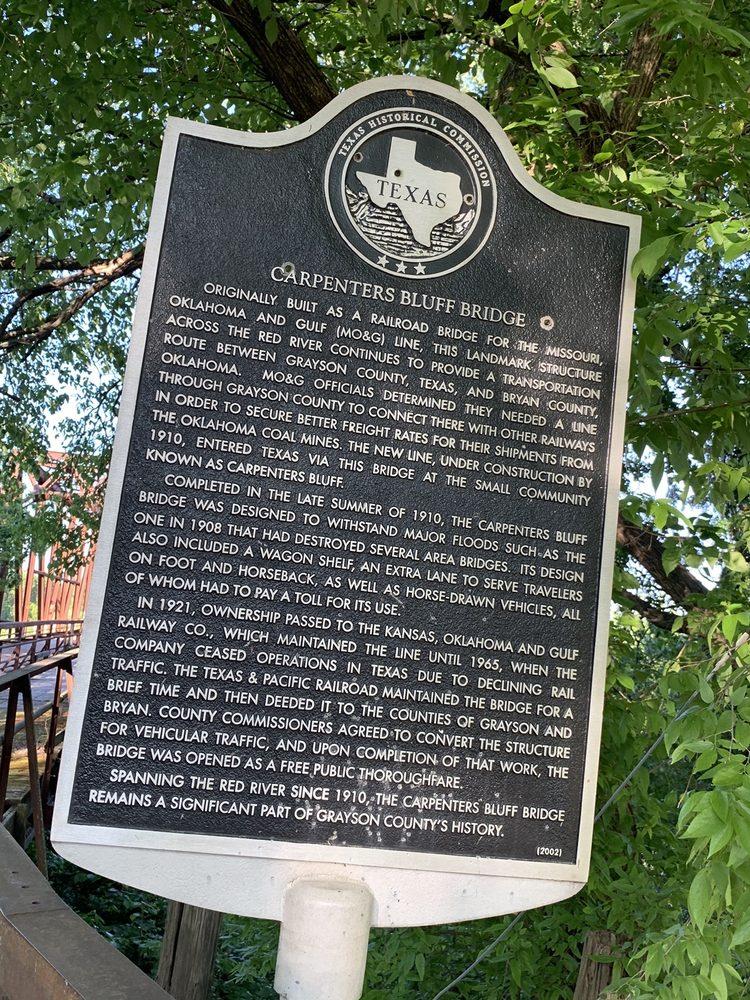 Carpenter's Bluff Historical Bridge: 5354 Carpenters Bluff Rd, Denison, TX