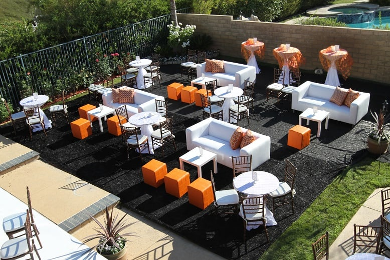 Lounge Furniture Setup For Wedding Los Angeles. Couches
