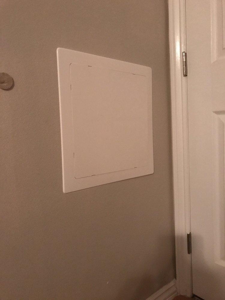 a build door pin pre doors panel frame using made an super access plumbing easy