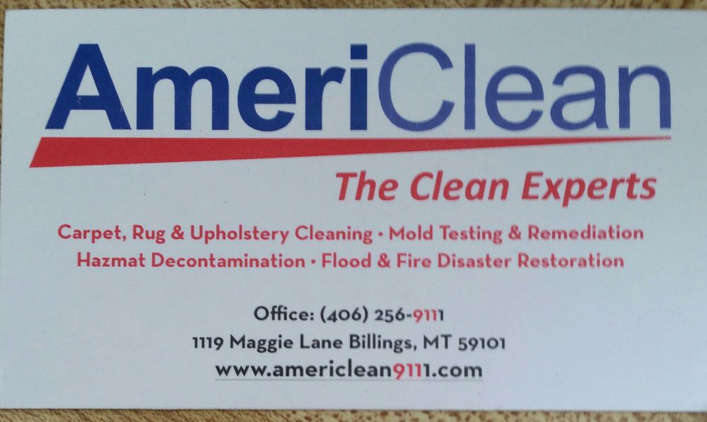 Americlean Carpet Cleaning 1119 Maggie Ln Billings MT Phone