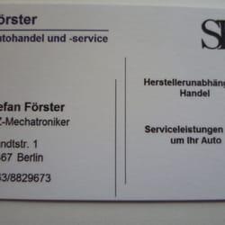 Förster Autohandel Und Service Auto Repair Brandtstr 1