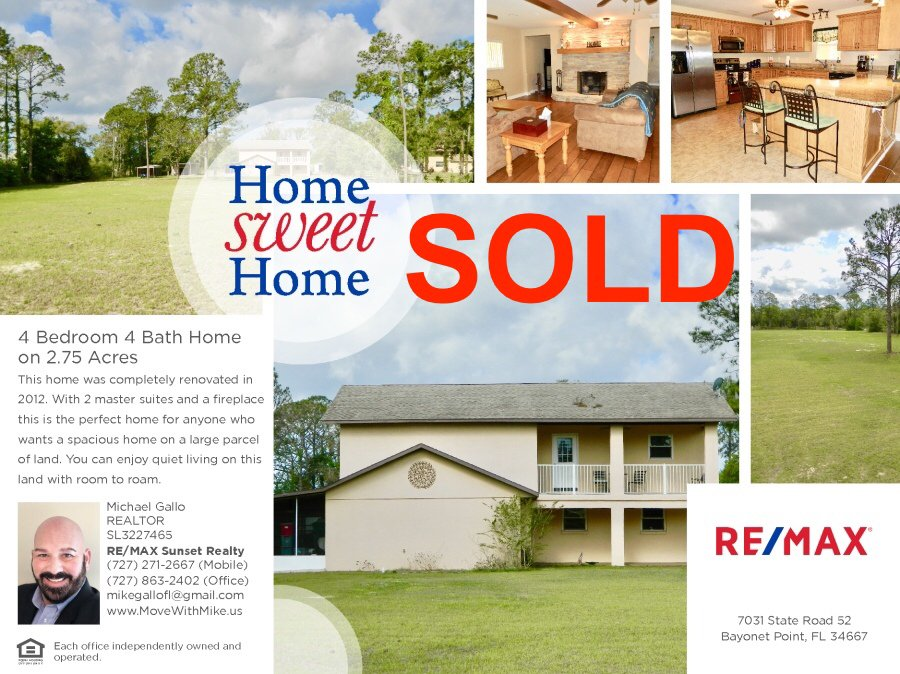 Michael J. Gallo - Re/max Sunset Realty: 7031 SR 52, Hudson, FL