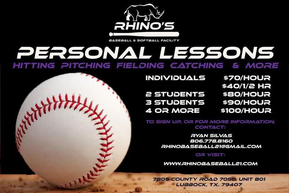 Rhino's Baseball and Softball Facility: 7805 County Rd 7050, Lubbock, TX