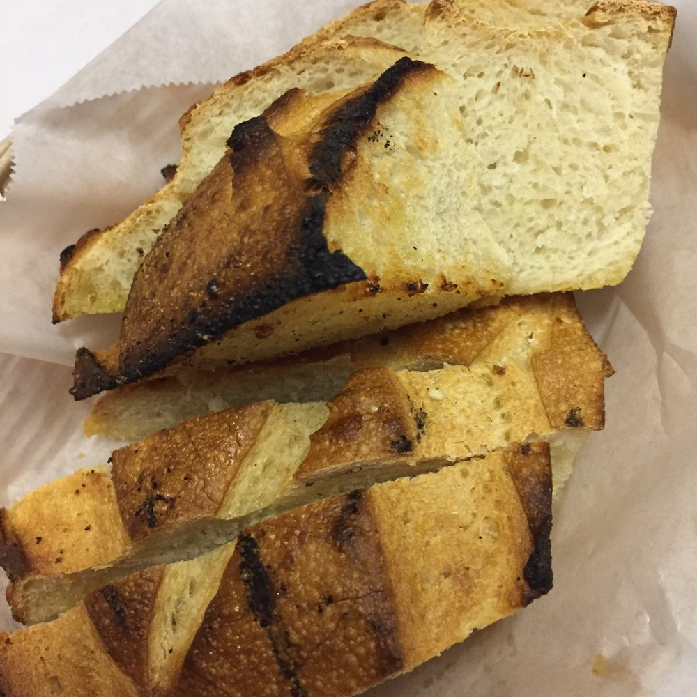 basket of garlic bread - Yelp