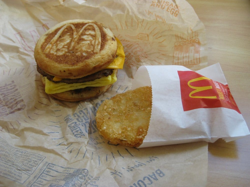 mcdonalds sausage egg & cheese mcgriddles