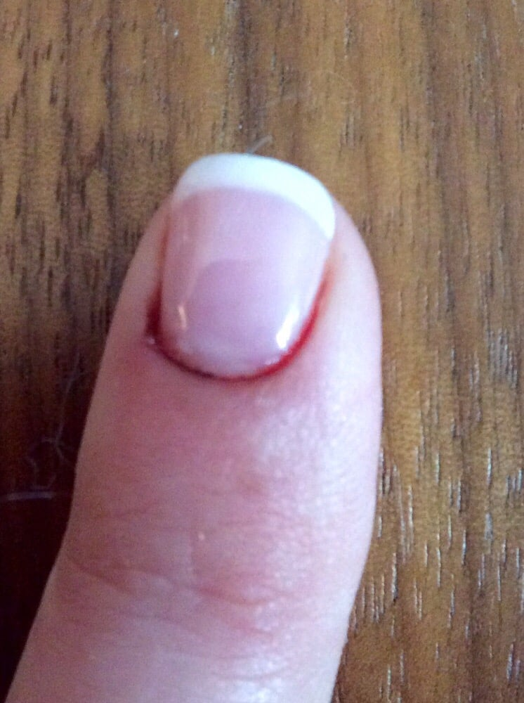 Cuticles were cut too much and my nail still looks bloody the next ...