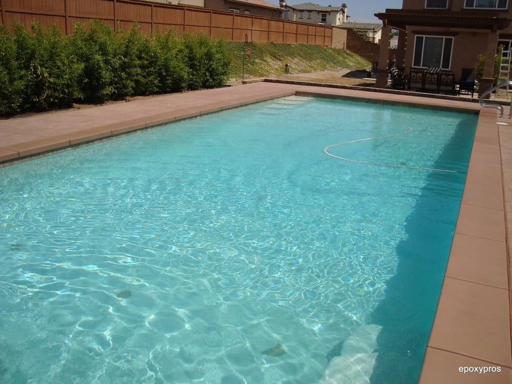 Epoxy Pool Deck Finishes : Pool deck coupling staining sealing yelp