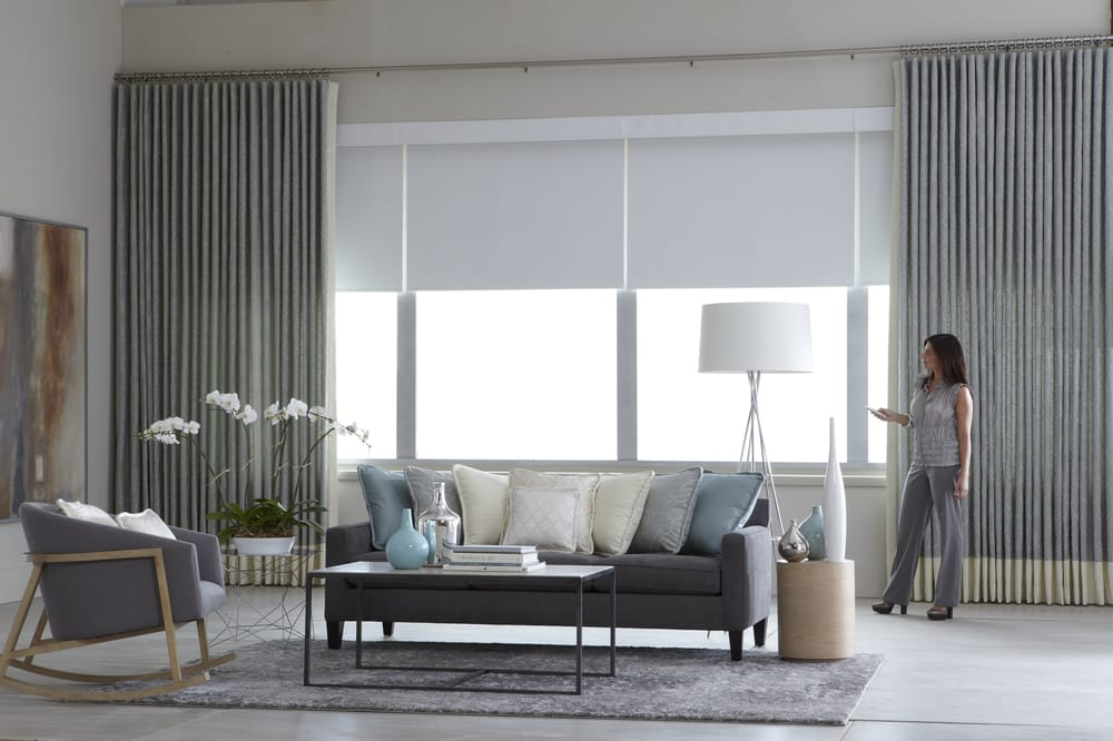 Motorized Curtains With Motorized Solar Shades Yelp